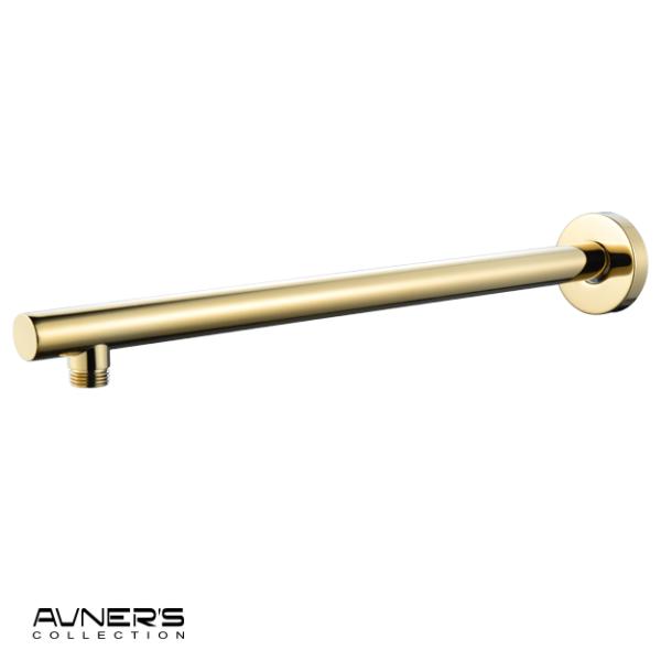 זרוע עגולה כבדה 40 ס״מ לראש טוש למקלחת זהב מבריק BRASS