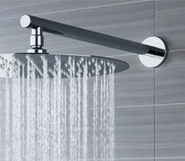 זרוע עגולה כבדה 40 ס״מ לראש טוש למקלחת ניקל מבריק BRASS