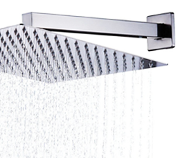 זרוע מרובעת 40 ס״מ לראש מקלחת לקיר ניקל מבריק BRASS