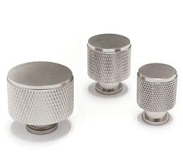 ידיות כפתור לארונות ומגירות דגם K-9093 מוברש ב-3 גדלים
