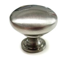 ידית כפתור לארונות דגם 3123 עגול ניקל מוברש