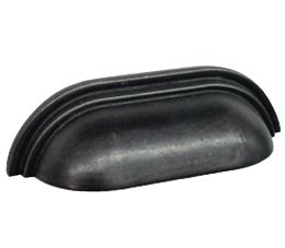 ידיות קונכיה דגם 9081 שחור עתיק במידות 64 מ״מ, 96 מ״מ