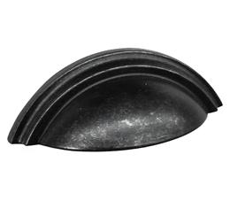ידית קונכיה דגם 9080 שחור עתיק 64 מ״מ