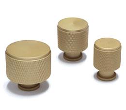 ידיות כפתור לארונות ומגירות דגם K-9093 זהב מט ב-3 גדלים