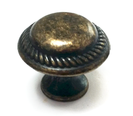 ידית כפתור עגול דגם 3124 פליז עתיק