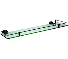 מדף זכוכית 53 ס״מ CLASS שחור זכוכית שקופה
