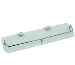 מדף זכוכית לוטוס 45 ס״מ לאמבטיה זכוכית חלבית