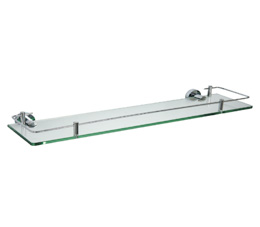 מדף זכוכית 53 ס״מ CLASS ניקל זכוכית שקופה