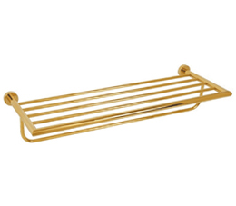 מדף מגבות זהב
