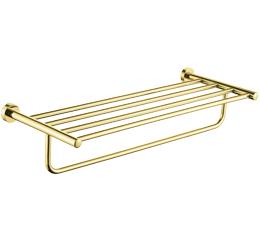 מדף מגבות אמבטיה 60 ס״מ ROUND זהב מט