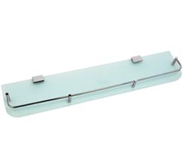 מדף זכוכית לוטוס 60 ס״מ לאמבטיה זכוכית חלבית