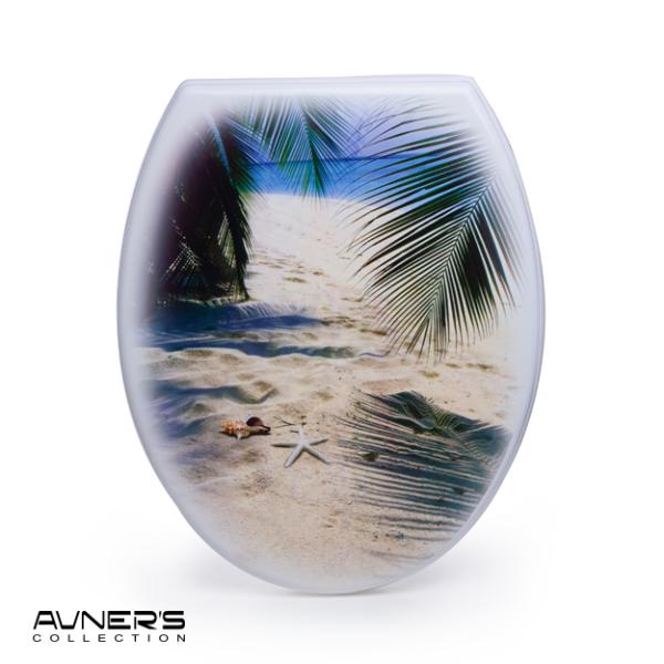 מושב אסלה מעוצב ציר נשלף דגם הוואי