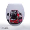 מושב אסלה מעוצב ציר נשלף דגם לונדון