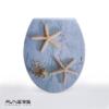 מושב אסלה מעוצב ציר נשלף דגם כוכבים