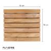 משטח עץ מרובע 76 ס״מ עם 7 שלבים למקלחת עץ טיק מלא