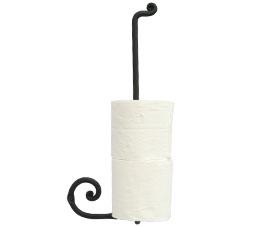 מחזיק נייר טואלט רזרבי לקיר נפחות שבלול שחור חולי