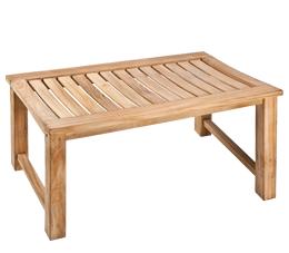 ספסל עץ למקלחת מלבני 76 ס״מ עץ טיק מלא