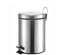 פח אשפה עגול 3 ליטר מבריק סגירה שקטה