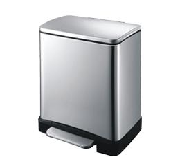 פח אשפה מלבני למטבח 20 ליטר מוברש טריקה שקטה