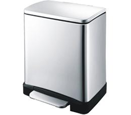 פח אשפה מלבני למטבח 30 ליטר מוברש סגירה שקטה