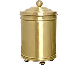 פח אשפה מעוצב 5 ליטר עגול עבודת יד פליז מט