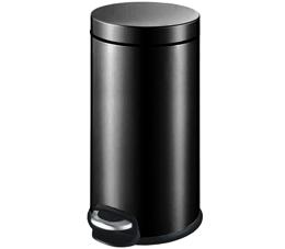 פח אשפה עגול למטבח 30 ליטר קלאסי שחור טריקה שקטה