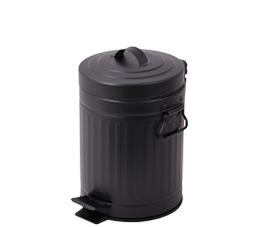 פח אשפה עגול 3 ליטר רטרו עגול שחור טריקה שקטה