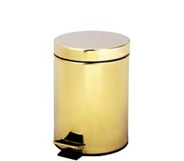 פח אשפה עגול 3 ליטר GOLDY זהב מט סגירה שקטה