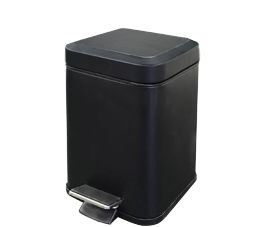 פח אשפה מרובע 3 ליטר שחור מט סגירה שקטה