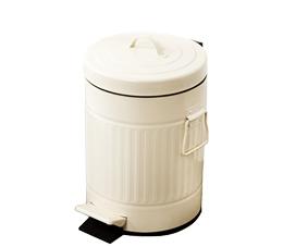 פח אשפה למטבח 20 ליטר רטרו עגול שמנת סגירה שקטה