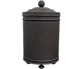 פח אשפה מעוצב 5 ליטר עגול עבודת יד שחור חולי