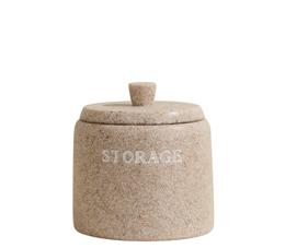 קופסה עגולה מונחת לצמר גפן דגם COUNTRY דמוי אבן