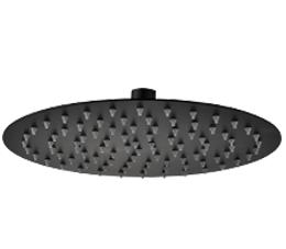 ראש מקלחת עגול 20| 25 | 30 ס״מ אטלנטיק שחור מט