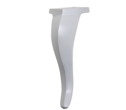 רגליים לספה | מזנון גובה 18 ס״מ דגם לואי לבן
