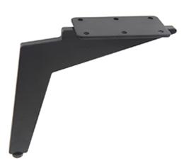 רגליים לריהוט גובה מ-12 עד 40 ס״מ דגם JUKE שחור מט