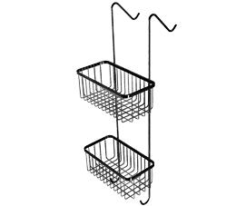 רשת כפולה למקלחון ללא קידוח לוק - שחור מט L500-BL