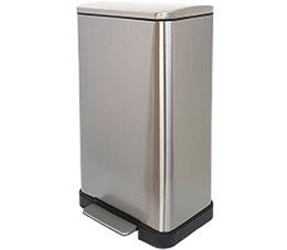 פח אשפה 45 ליטר מלבני למטבח מוברש סגירה שקטה