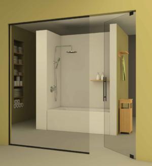 דלת כניסה לחדר אמבטיה DOORS16 - סגירת חלל עם דלת צירי פרימה