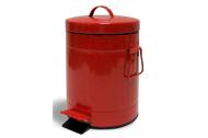 פח אשפה עגול 3 ליטר רטרו אדום