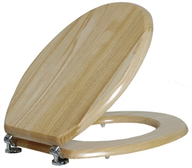 מושב אסלה עץ טבעי