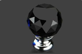 """כפתור קריסטל שחור 30 מ""""מ 302BL"""
