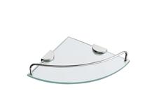 מדף זכוכית פינתי דגם SL-277 זכוכית שקופה |חלבית