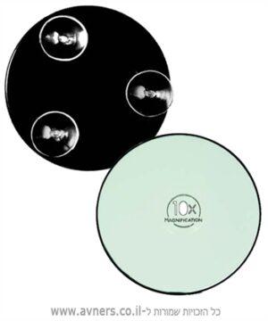 מראת קטנה עגולה מגדילה פי 10 לאיפור ואקום - M7
