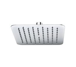 ראש מקלחת מרובע 20 ס״מ אטלנטיק ניקל מבריק