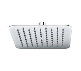 ראש מקלחת מרובע 25 ס״מ אטלנטיק ניקל מבריק