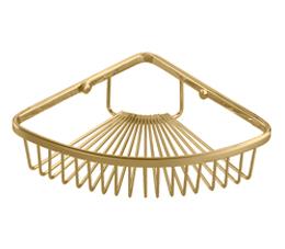 רשת מעוגלת פינתית לשמפו למקלחת GOLD זהב -K615-G
