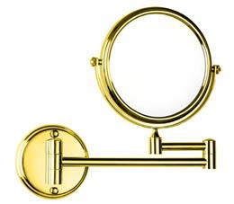 מראה לקיר מגדילה פי 7 בסיס עגול GOLD זהב - M8-G