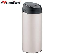 פח אשפה למטבח טאץ 40 ליטר עגול שמנת MELICONI