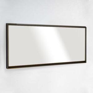 מראה לקיר עם מסגרת שחורה